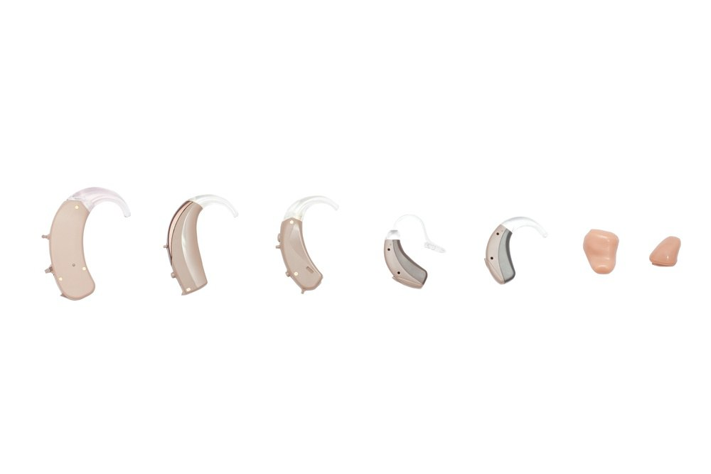 different types/styles of hearing aids